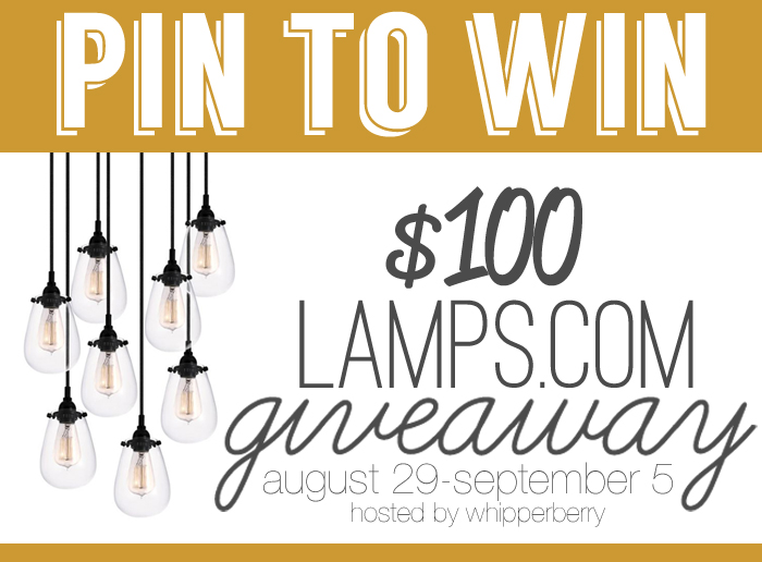 Pin to Win Giveaway from Lamps dot com