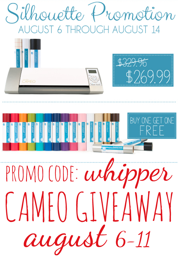 WhipperBerry August Silhouette Promotion and Giveaway