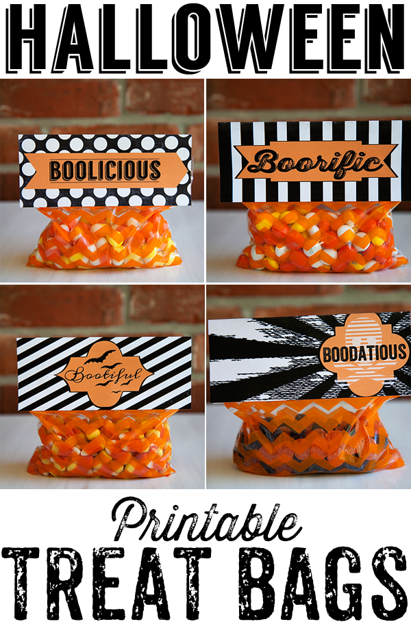 WhipperBerry Printable Halloween Treat Bags
