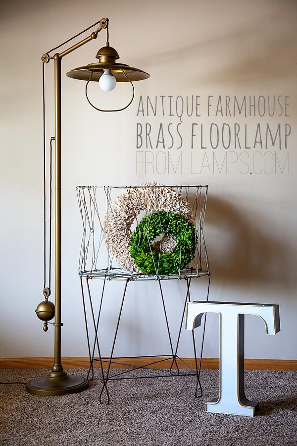 WhipperBerryu0027s Antique Farmhouse Brass Floor Lamp