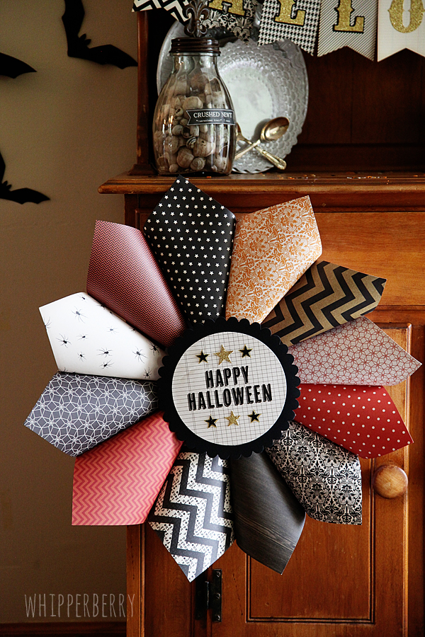 American Crafts Halloween Paper Wreath