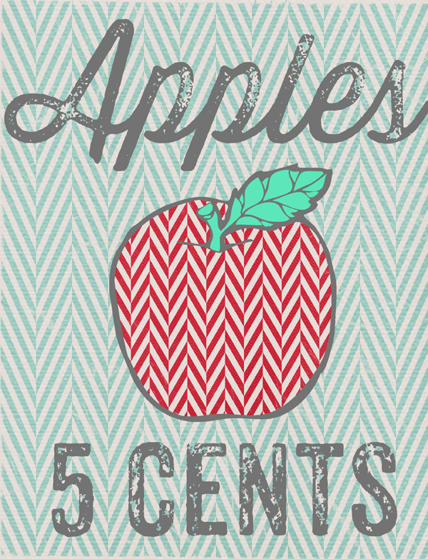 Apples 5 Cents SM - Fall Printable Decor from WhipperBerry