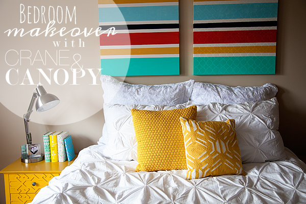 Bedroom Makeover with Crane u0026 Canopy & Crane u0026 Canopy Designer Bedding Makeover u2022 Whipperberry