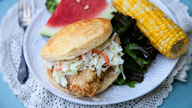 Pillsbury Oven Fried Chicken Corn Biscuit Sandwich