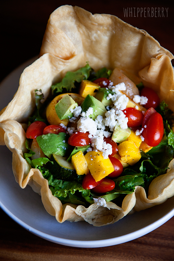 Roasted Veggie Taco Salad from WhipperBerry