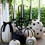 Black & White Halloween Pumpkins