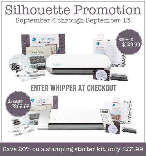 WhipperBerry Silhouette September Promotion