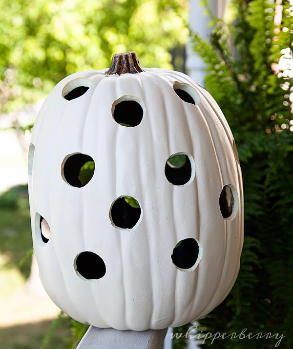 polka dot pumpkin from Michaels