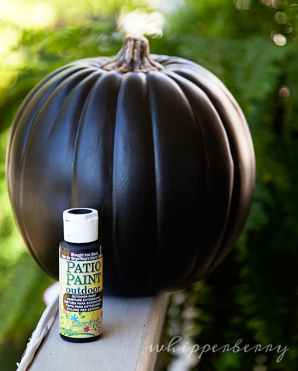 pumpking with DecoArt Patio Paint