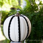 ribbon pumpkin from Michaels