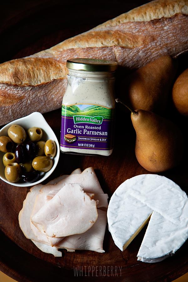 Turkey, Pear & Brie Sandwich with Hidden Valley™ Ranch Oven Roasted Garlic Sandwich Spread