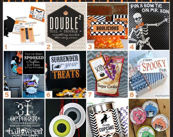 Halloween Printables Treat Bags Plus 12 More Printable Halloween Goodies