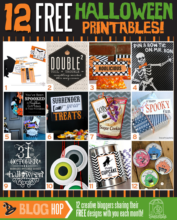 Halloween Printables Treat Bags Plus 12 More Printable Halloween Goodies