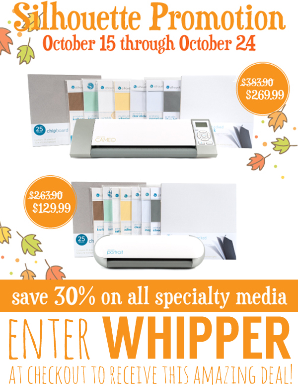 Silhouette October Promotion