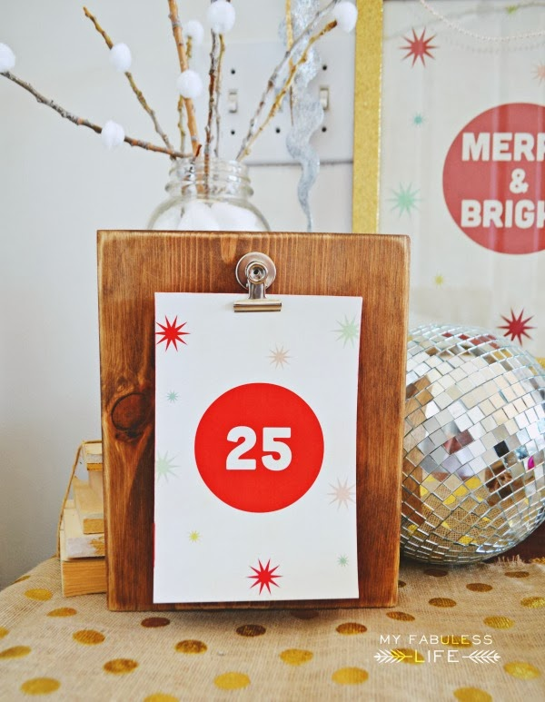Free Printable Christmas Countdown and Wood Clipboard Tutorial