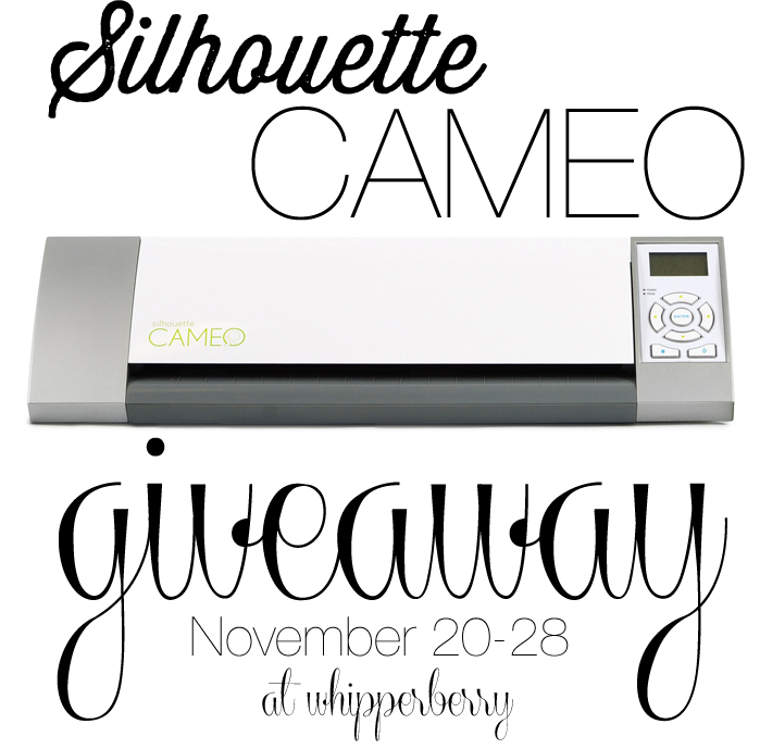 Pre-Black Friday Silhouette CAMEO Giveaway