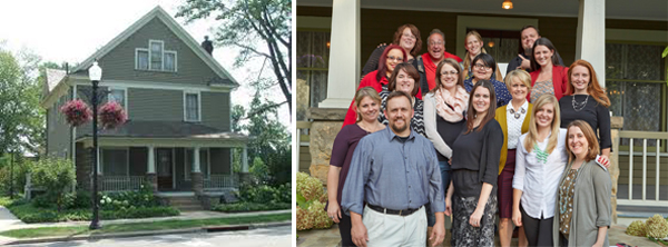 the whole crew at the J.M. Smucker House