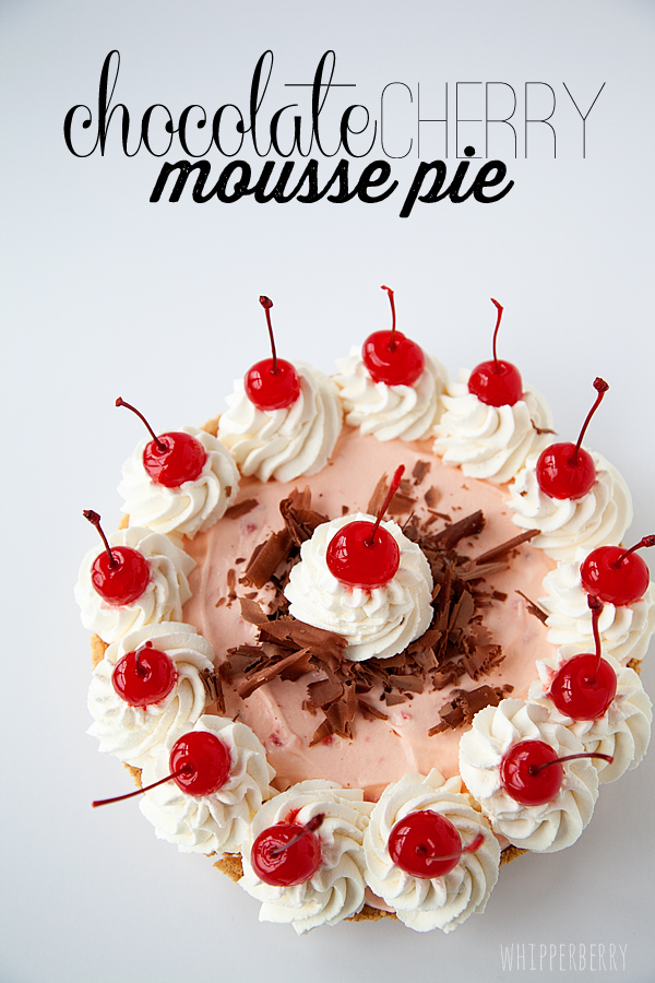 Eagle Brand Chocolate Cherry Mousse Pie-4