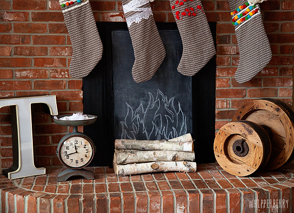 Faux Fireplace with DecoArt Chalkboard Paint by WhipperBerry-1