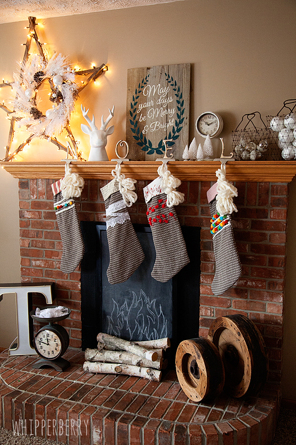 Faux Fireplace with DecoArt Chalkboard Paint by WhipperBerry-new