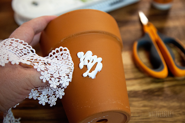 DIY Lace Flower Pots Whipperberry