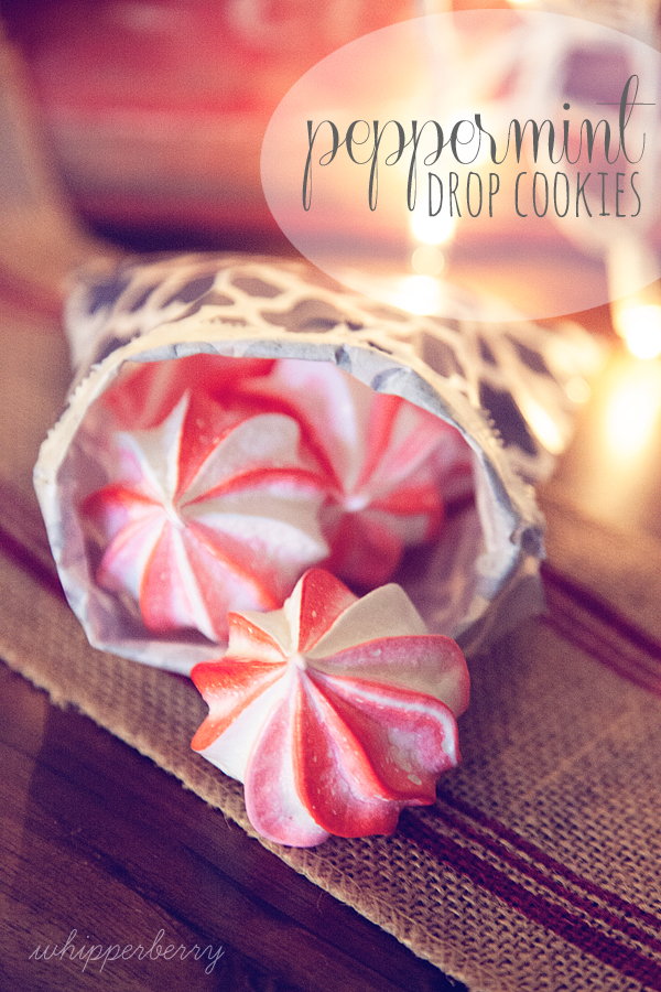 WhipperBerry Peppermint Drop Meringue Cookies