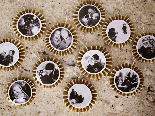 DIY Paper Fan Photo Ornaments