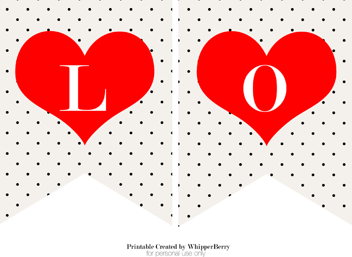 graphic relating to Valentine Banner Printable named Fashionable Black White Valentines Working day Printables Cost-free