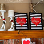 Trendy Black & White Valentines Day Printables FRE