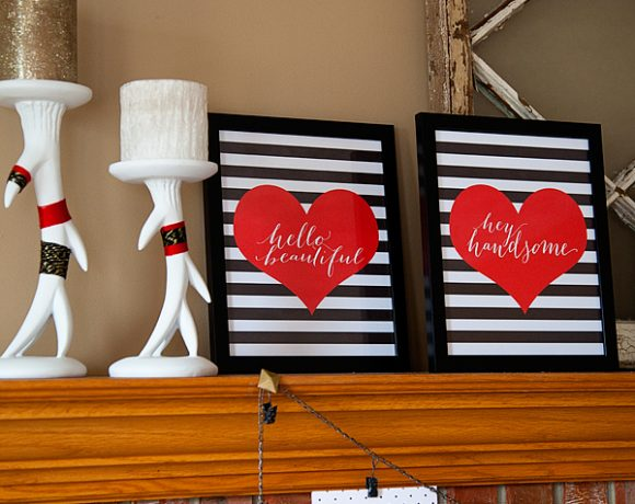 Trendy Black & White Valentines Day Printables FREE