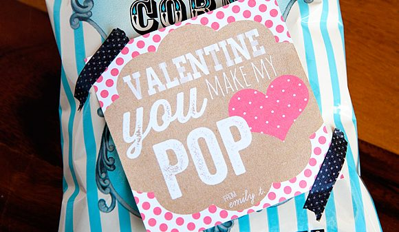 Valentine's Day You Make My Heart POP Free Printable