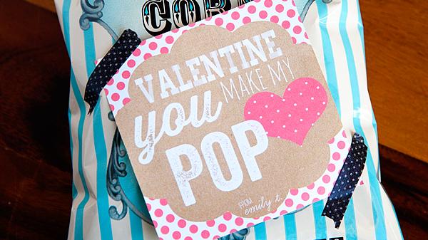 Valentine's Day You Make My Heart POP Free Printable