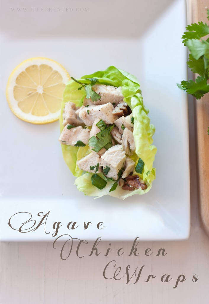 Agave Chicken Wraps