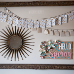 Hello Spring Burlap Sign