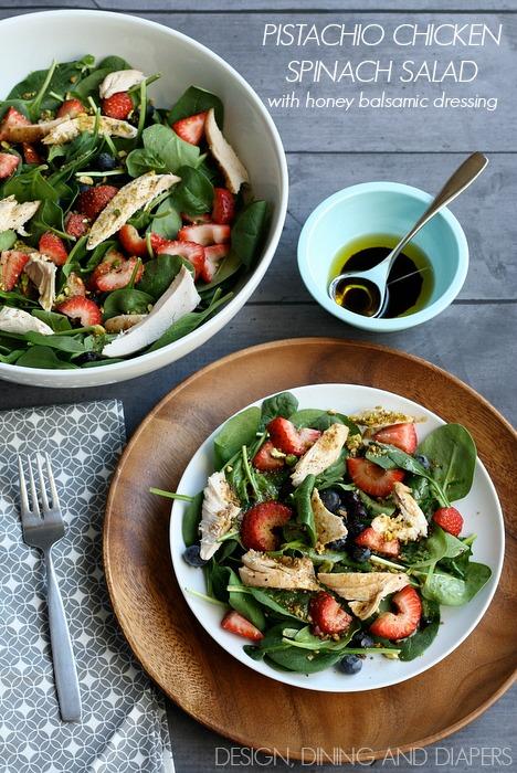 Pistachio-Chicken-Spinach-Salad-with-honey-balsamic-dressing-via-designdininganddiapers.com_