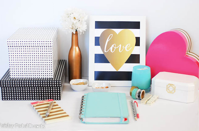 Valentines-day-art-prints-black-and-white-stripe-love