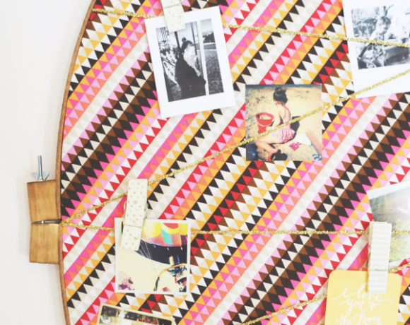 Embroidery Hoop Bulletin Board