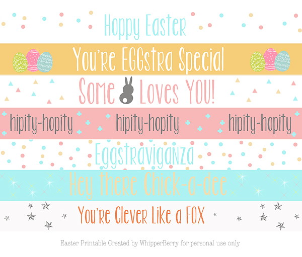 Easter Buddies An Easter Pinterest Party Whipperberry – Easter Card Sayings