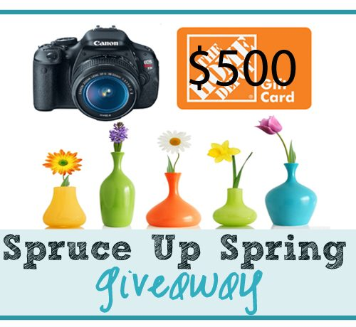 Spruce Up Spring $500 Instagram GIVEAWAY