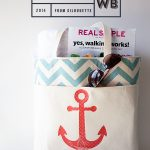 Anchor Bag with Silhouette PRINTABLE Heat Transfer Material