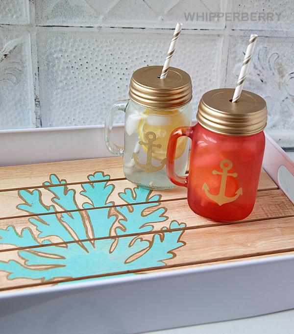 DIY Painted Tray Set