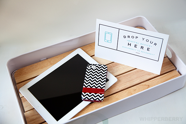 Drop Your Digital Device Here Free Printable + Disconnect to Reconnect GIVEAWAY