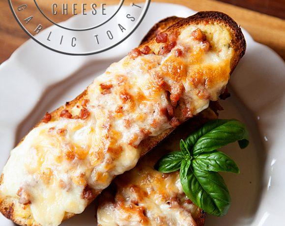 German Ham and Cheese Garlic Toast // GIVEAWAY