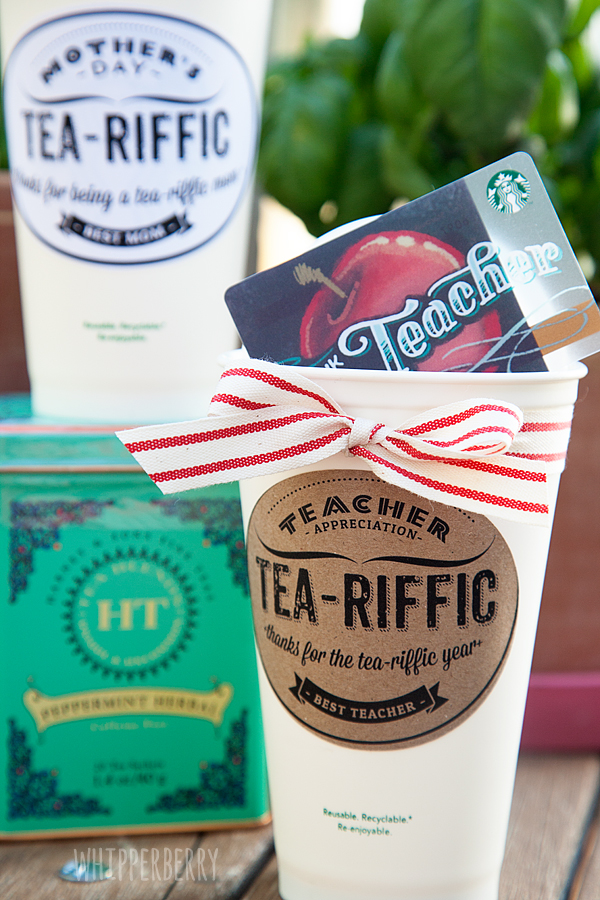 Tea-Riffic Teacher // Teacher Appreciation Week • Whipperberry
