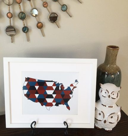 Geometric 4th of July Printables