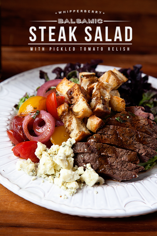 Balsamic Steak Salad with Pickled Tomato Relish