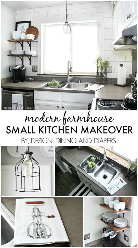 The party bunch week 34 thirty handmade days for Small kitchen makeover ideas on a budget