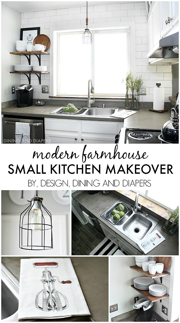 Best diy projects and recipes party the 36th avenue for Small kitchen remodel on a budget