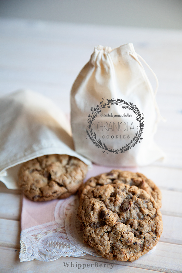 Chocolate Peanut Butter Granola Cookies