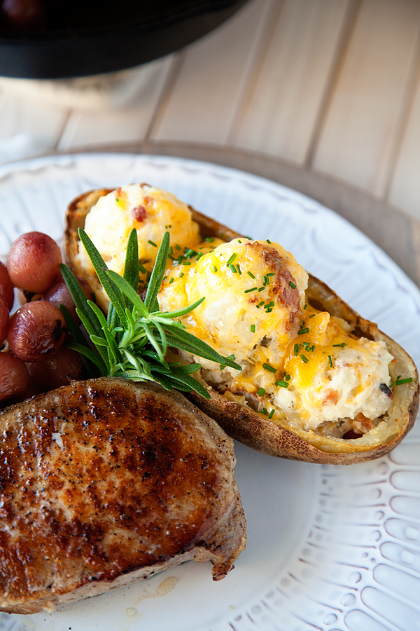 Roasted-Pork-Chop-with-Grapes-and-Twice-Baked-Potatoes-2